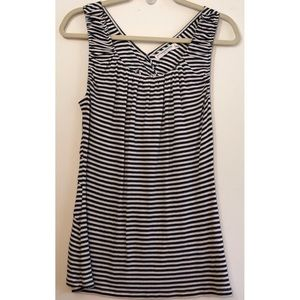 Anthropologie | Pilcro blue striped top, large